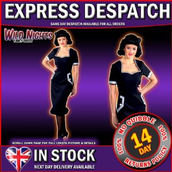 FANCY DRESS COSTUME * DELUXE 1940'S BETTY DRESS XS 6-8